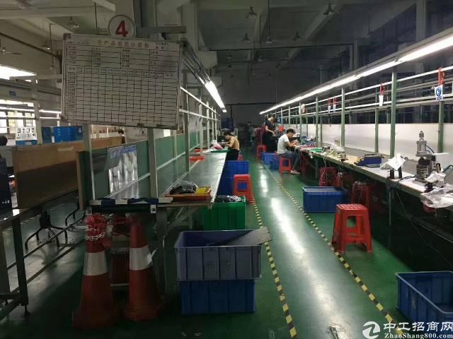 沙井新桥三工业区一楼1000平米6米高厂房出租