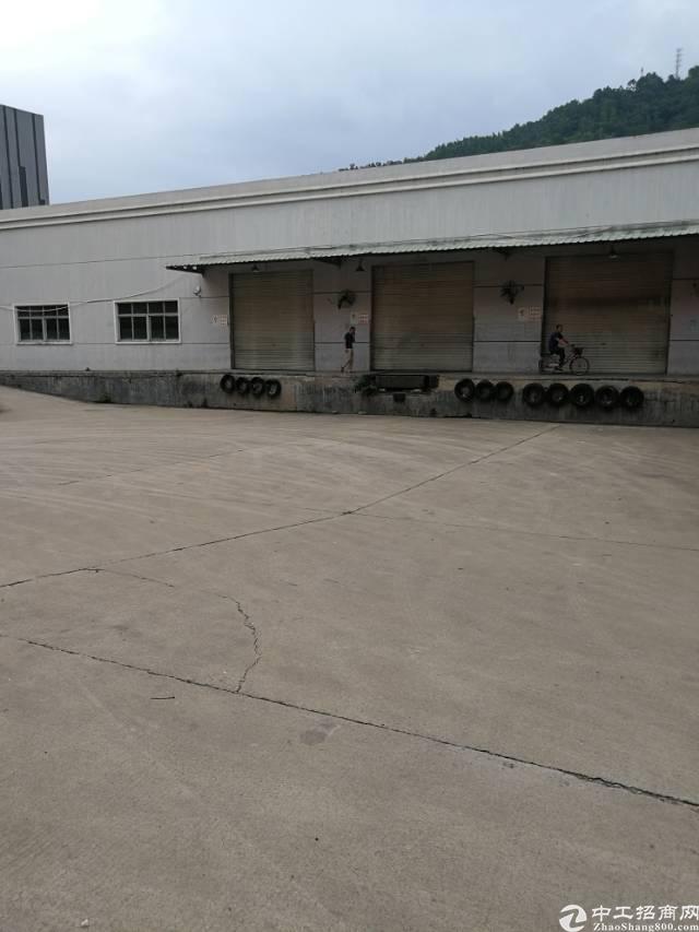 横岗新横坪公路边上带卸货平台标准仓库3000平米出租