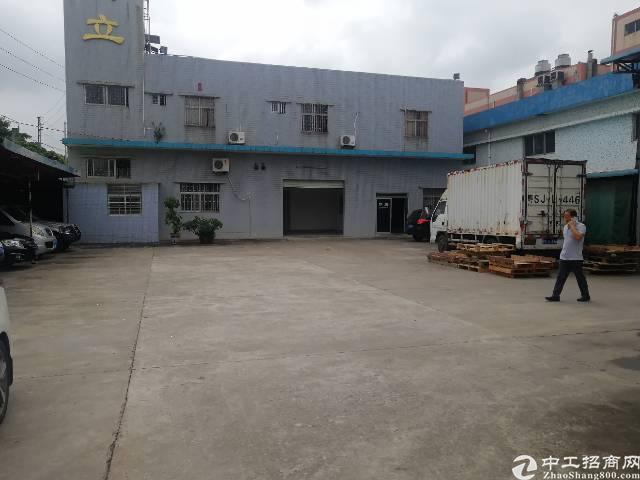 虎门怀德新出单一层钢构独院厂房5000平米原房东出租滴水9米