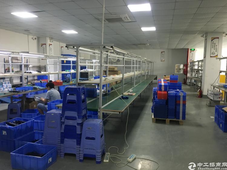 沙井西部新出400平米带前台装修厂房招租