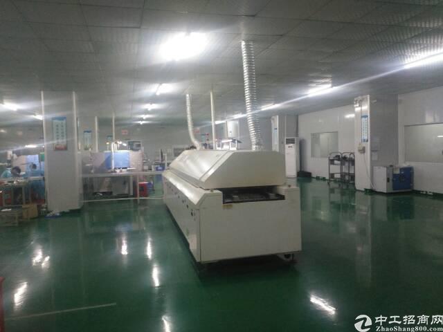 福永新出楼上整层1800平方带装修贴片厂房