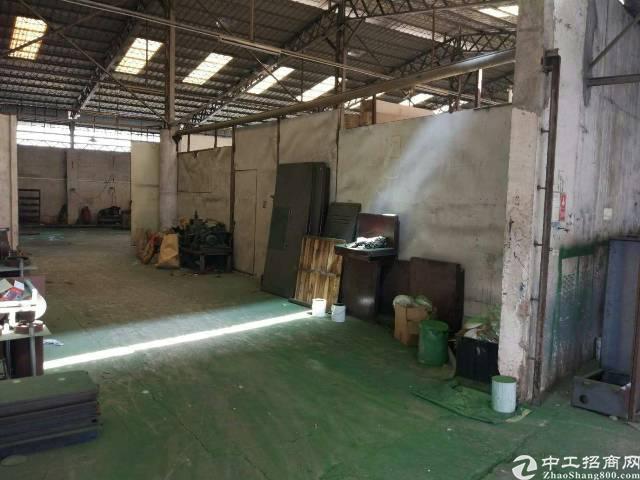 东莞虎门怀德大埔工业区一楼铁皮厂房出租,院子特别大,面积实在