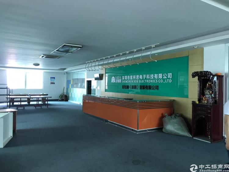 龙华大浪中心区 带装修厂房楼上整层2000平