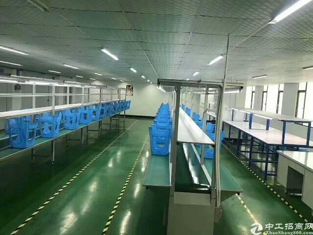 福永和平新出楼上1300平方带装修电子厂房