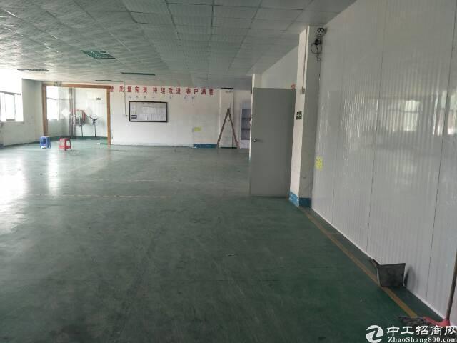 坪山坪葵路旁新出楼上整层1100平现成办公室带装修-图4