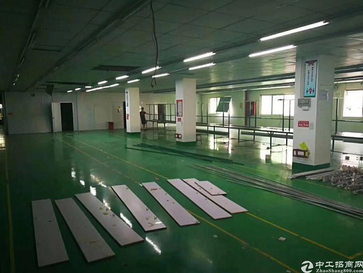 沙井镇大王山工业区二楼整层1560平米,带装修出租