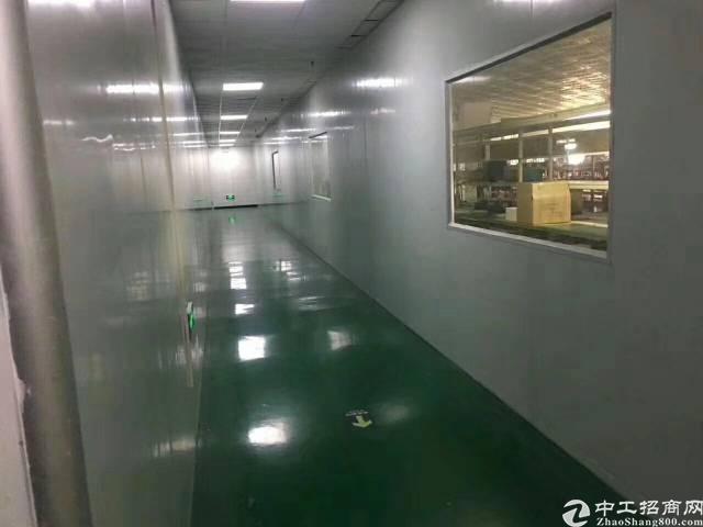 沙井后亭地铁口,新出厂房1000平,无尘车间,办公室,装修