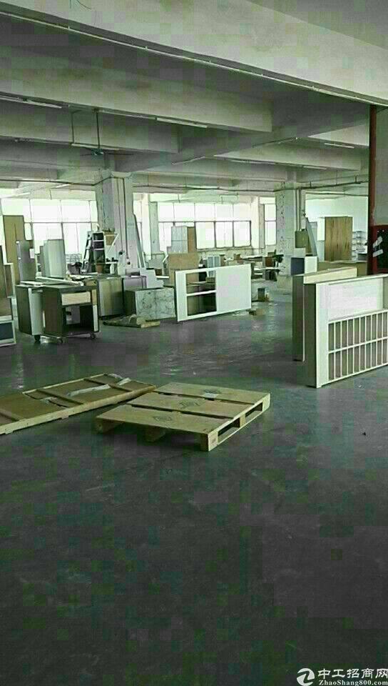 布吉慢城新出楼上650平带装修标准厂房出租-图4