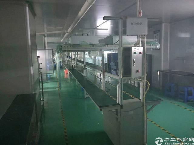 龙岗爱联地铁站旁一楼精装修办公室厂房800平,三楼1200平