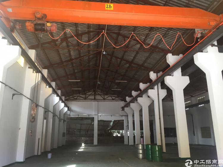 公明新出8米高钢结构厂房带行车1150,主干道旁,南光高速出