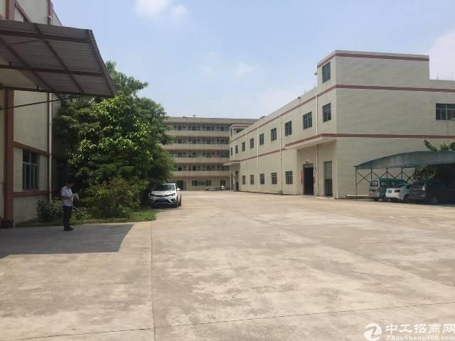 谢岗独栋花园式厂房1-2层3100平,一楼7米高,带牛角