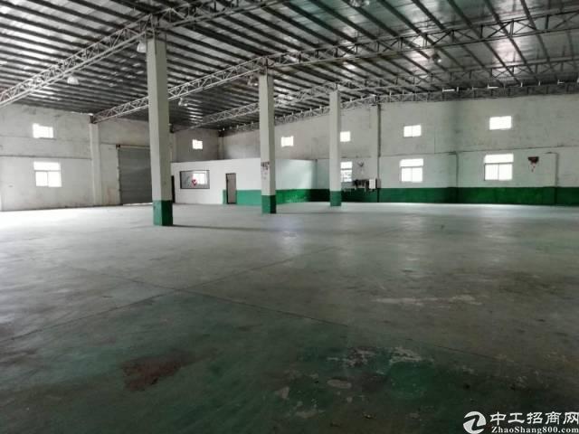 惠州小金口工业区内独院一楼1200平钢构厂房出租!
