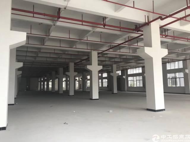 大朗高速出口大型工业园可分!一二楼厂房带牛角,每层2200