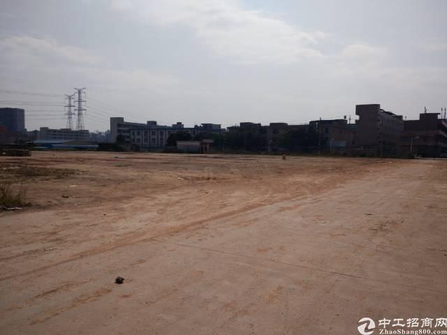 松岗潭头国道边硬底化空地13000平低价分租