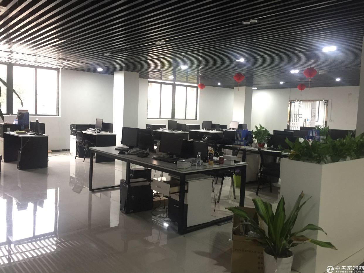 西乡银田新出楼上1800平米精装修办公室招租