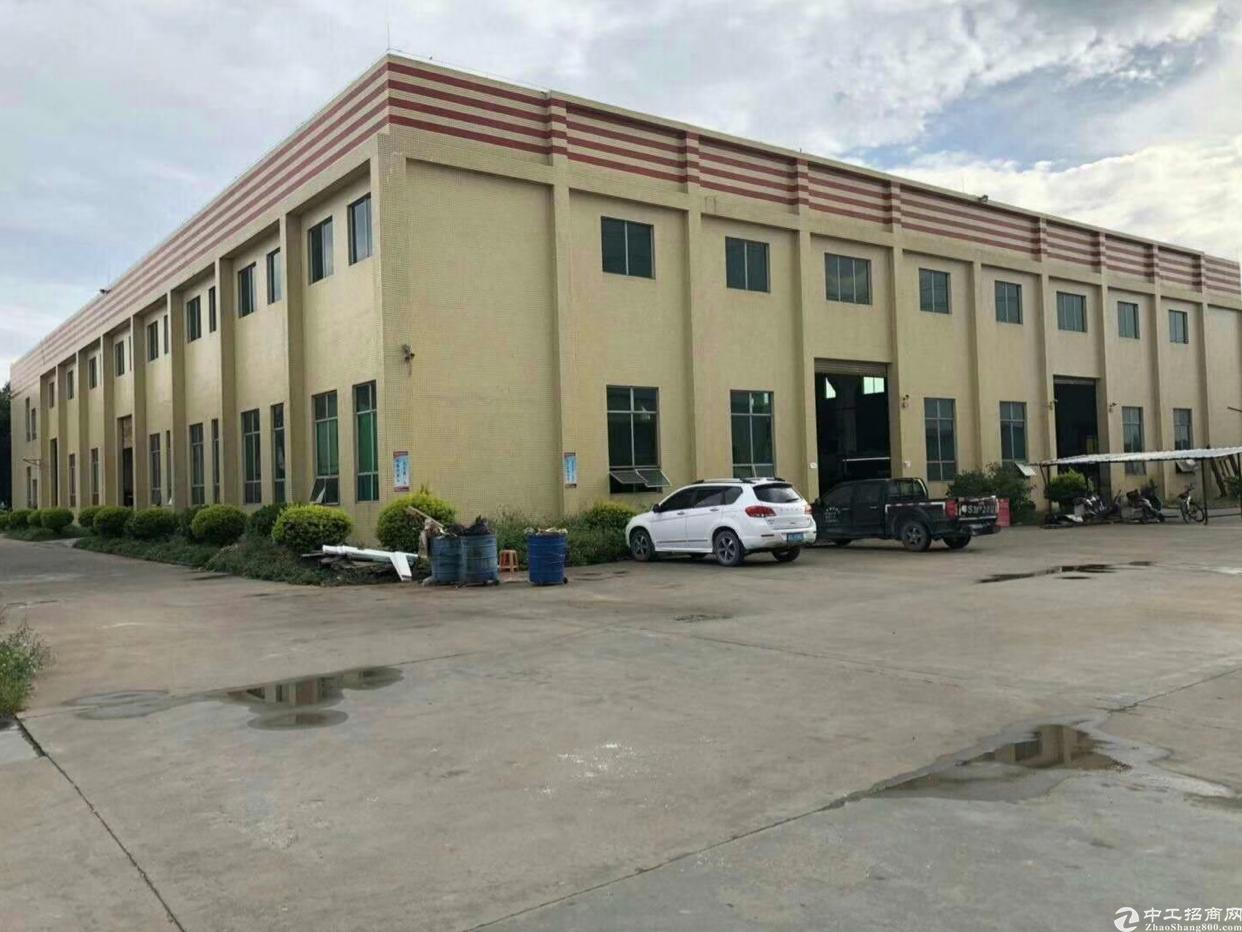 惠州仲恺工业园独栋厂房3600平方带牛角滴水11米出租