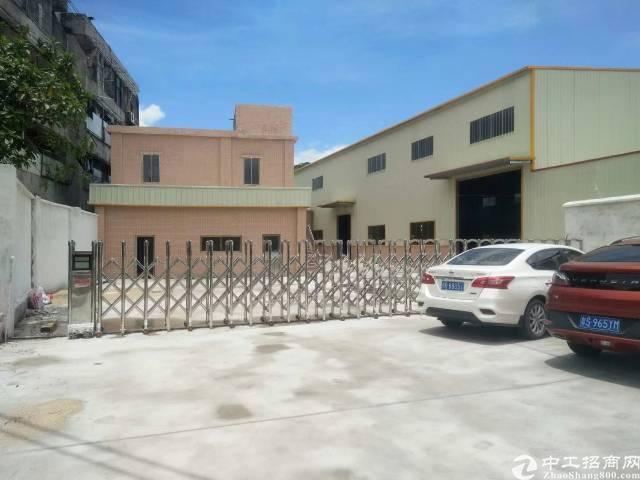 茶山镇全新独院单一层钢构厂房3500平方出租
