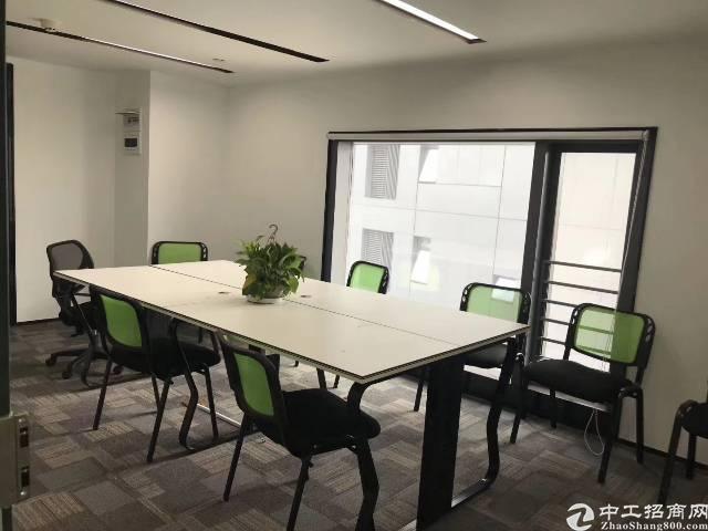西乡大益广场对面带家私办公室305平方招租