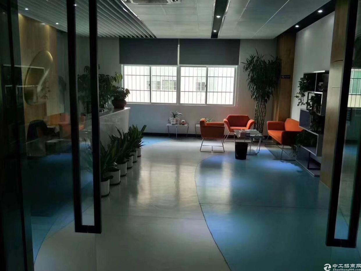 塘厦沙湖原房东厂房新出标准4楼1650平方带精装修厂房招租