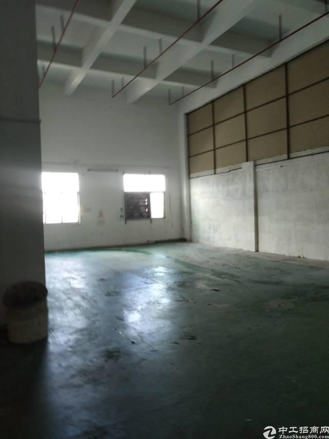 松岗沙浦围新出楼上1100平方4.5米高带装修重工业厂房