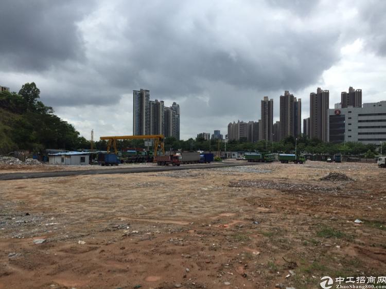深圳龙华5000平空地主干道旁适合停车场充电桩驾校训练场