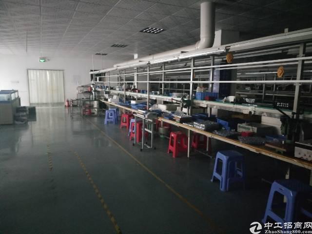 沙井镇后亭地铁口楼上650平方带装修厂房出租