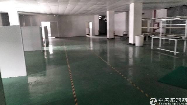 石碣新城区新出标准厂房二楼1200㎡,现成装修,带环氧地坪漆