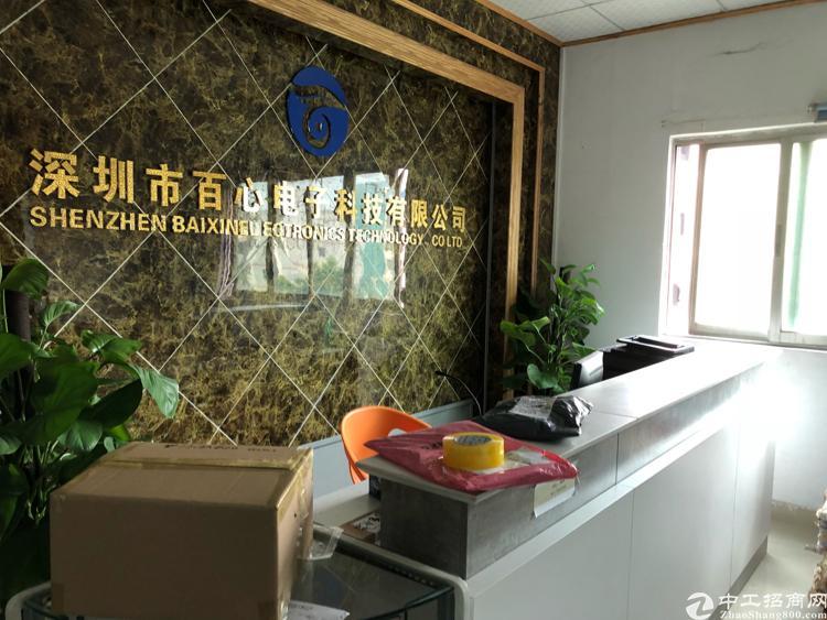 福永和平新出楼上整层1500平米带装修厂房出租