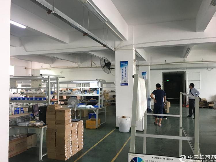 横岗四联原房东工业区1050平方米厂房出租