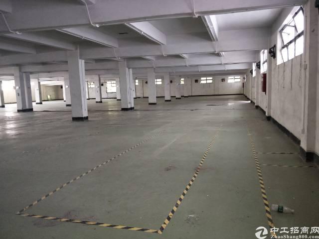 西乡银田工业区铁仔路楼上1100平标准厂房出租