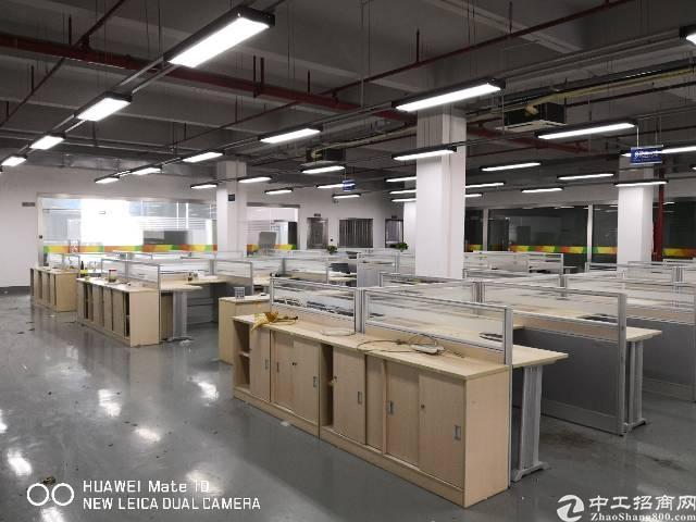 石岩红本厂房高大尚园区整层2500平带精装办公室带消防喷淋