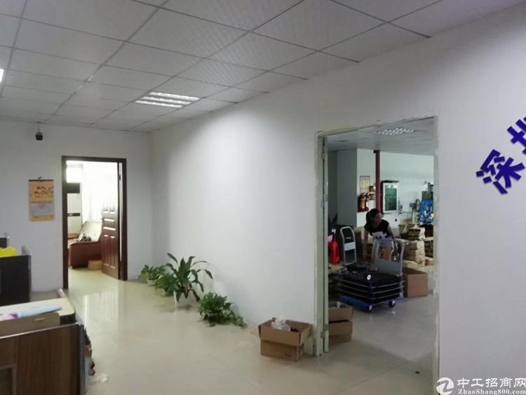 福永桥头楼上300平厂房出租 免转让费带装修小面积