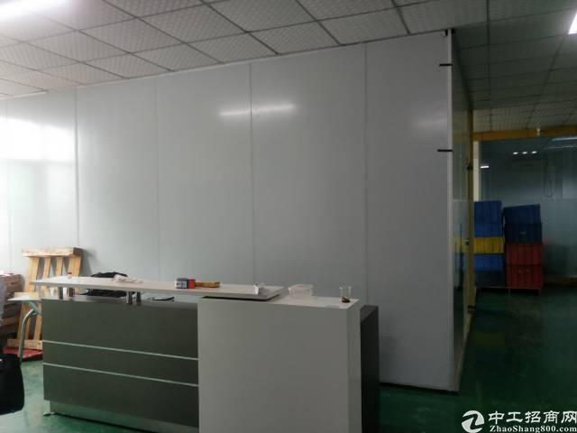 福永塘尾新出楼上1000平米带装修厂房 不要转让费