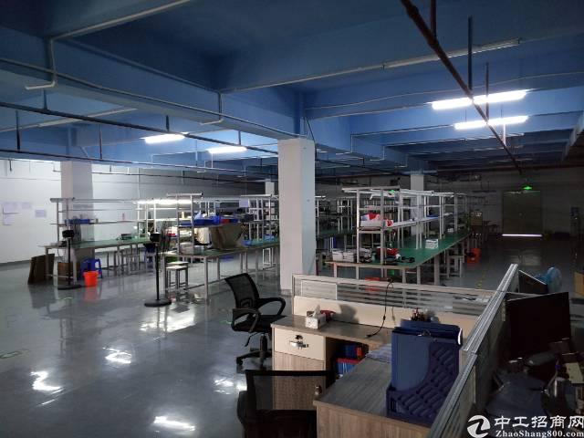 深圳沙井沙头工业园区附近新出带装修660平厂房出租