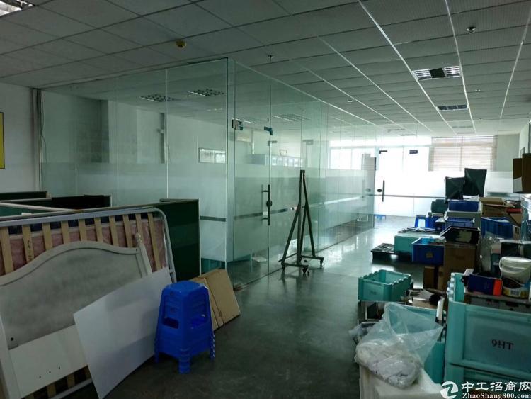 龙岗区横岗六约地铁站带装修1600平米厂房出租