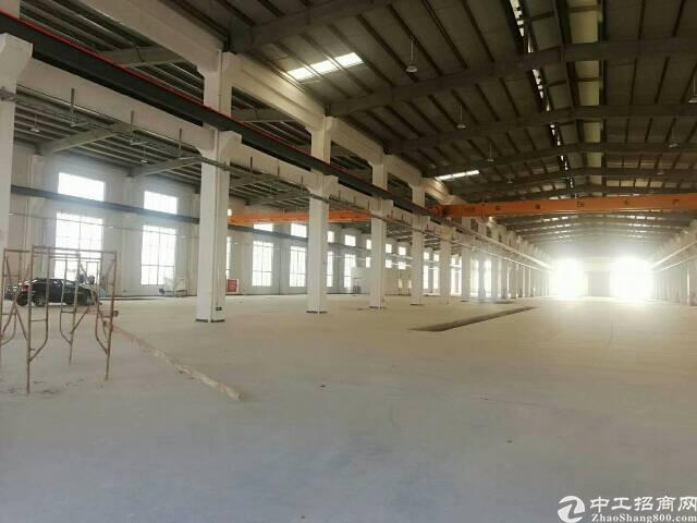 黄江全新带红本单一层带牛角行车厂房招租,园区内空地超大,