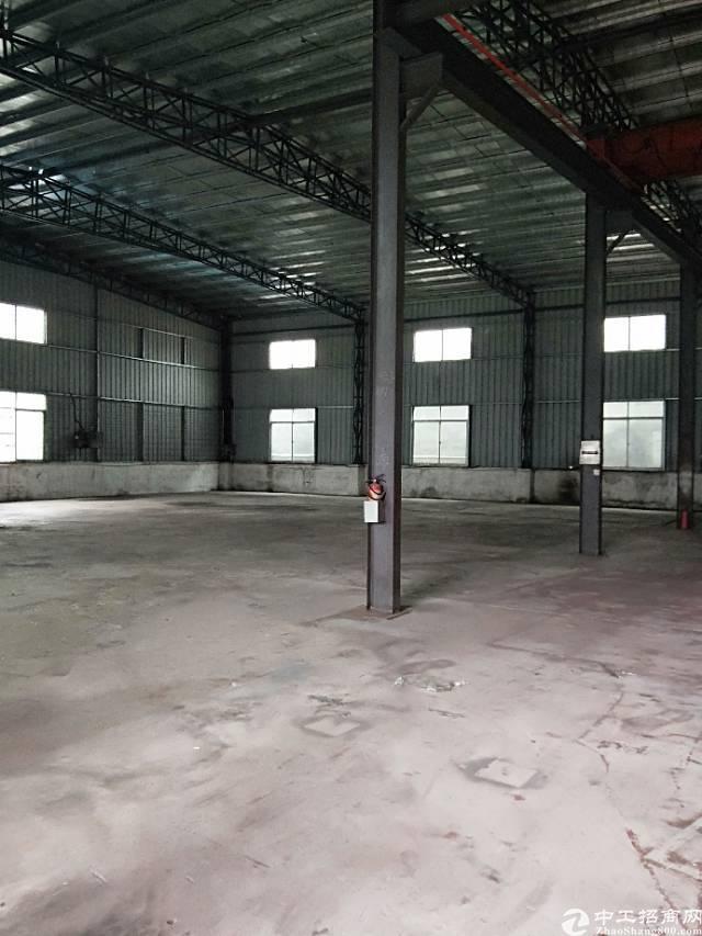 横沥出租单一层钢构厂房500平方带2吨现成行车