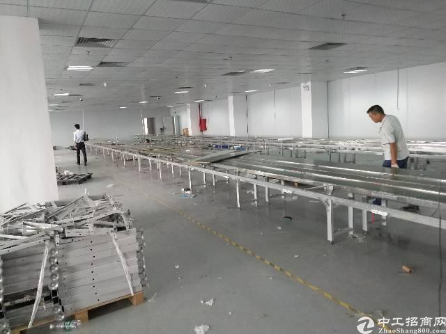 沙井步涌第二工业区6楼1800平精装修免转让费厂房招租