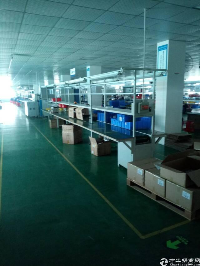 平湖华南城工业区楼上1280平带装修厂房招租