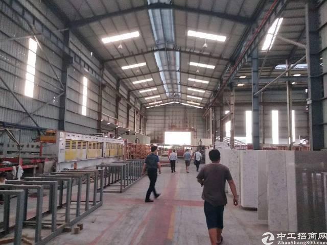 原房东单一层钢构厂房出租实际面积5000方,滴水10米带行车