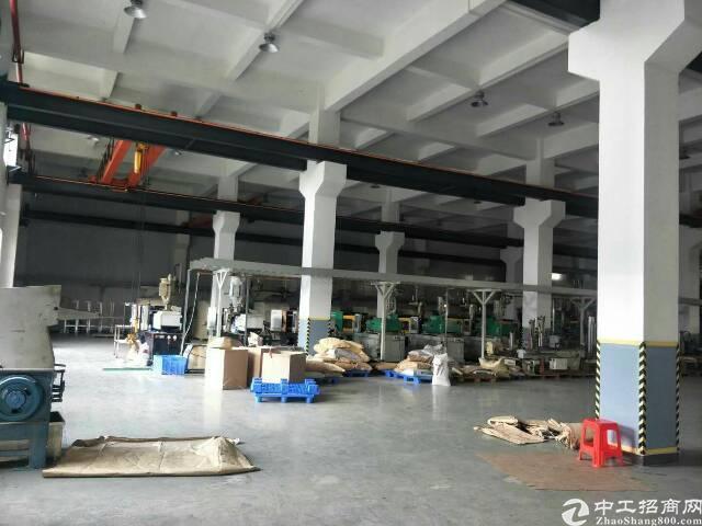 黄江镇原房东标准独院厂房带牛角现成行车滴水7.5米2800平