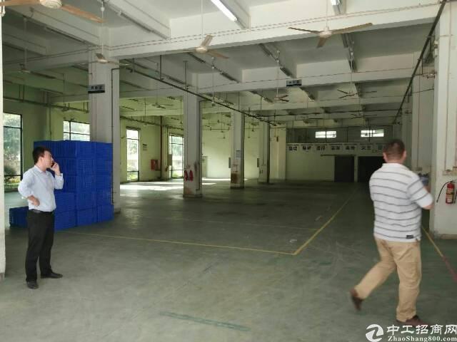 松岗罗田居民区附近大型工业园二楼整层2380平方厂房出租