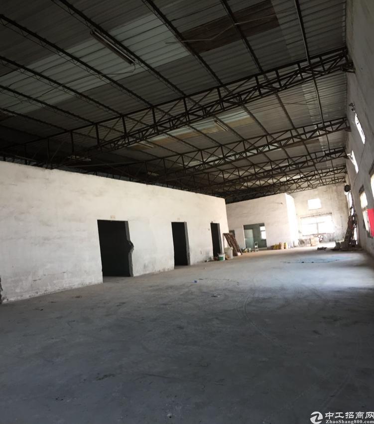 松岗松福大道边原房东独院钢构厂房1300平带办公楼无公摊出租