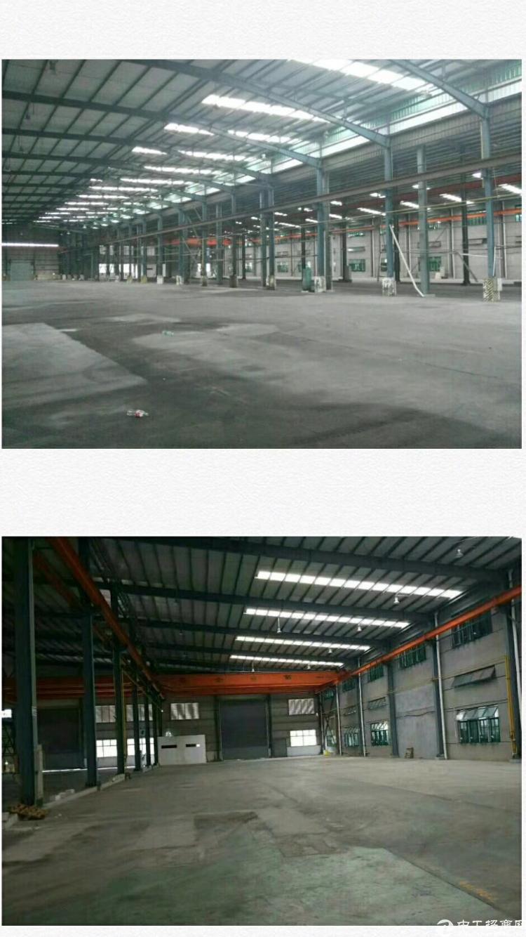 寮步镇华南城11米高钢结构厂房7680平方出租有行车