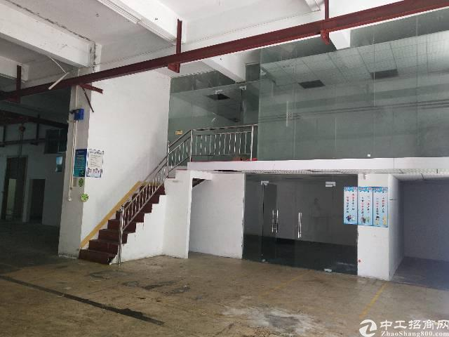沙井东环路一楼600平米带装修厂房出租,高6米,无转让费