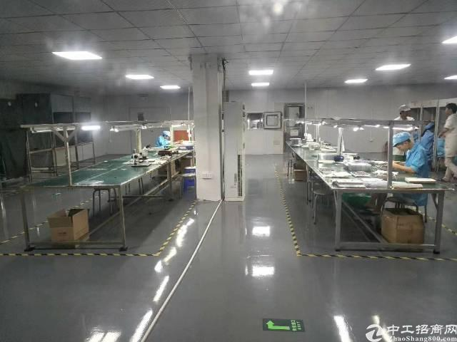沙井镇大王山原房东楼上800平方带装修厂房出租