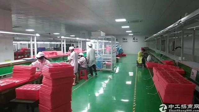 福永宝安大道附近大型工业园区1800平米整层带装修厂房出租-图4