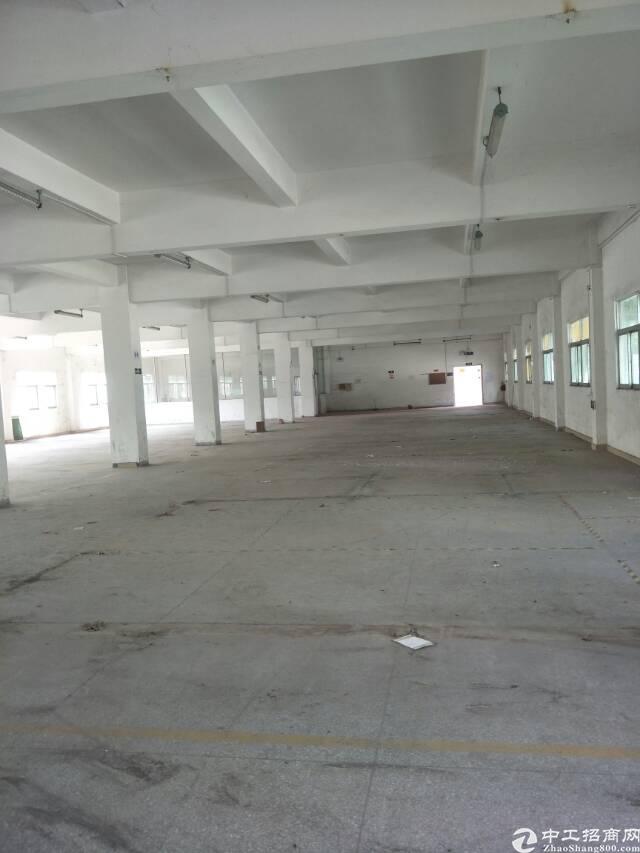 黄江镇大冚村新出楼上1500平标准厂房出租