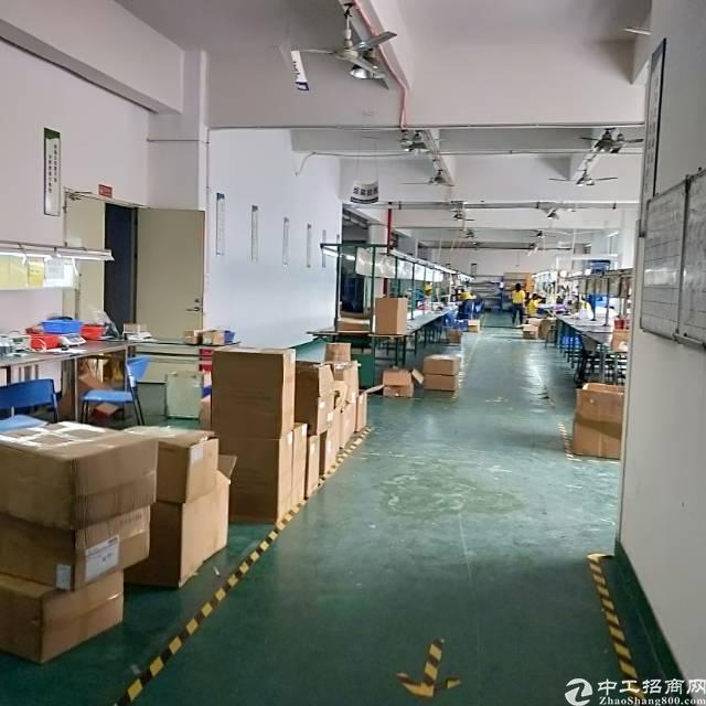 龙华清湖地铁口新出楼上带装修厂房780平,面积实在无转让费