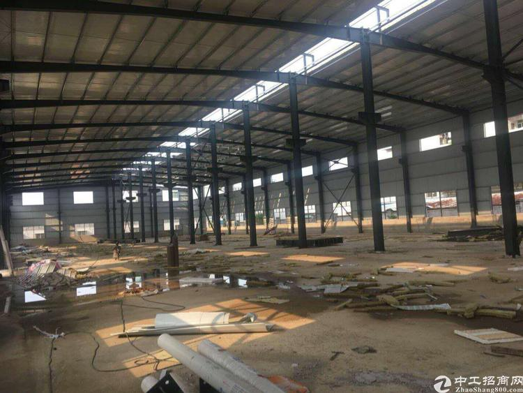 博罗县新建钢构厂房8500方滴水9米,带牛角